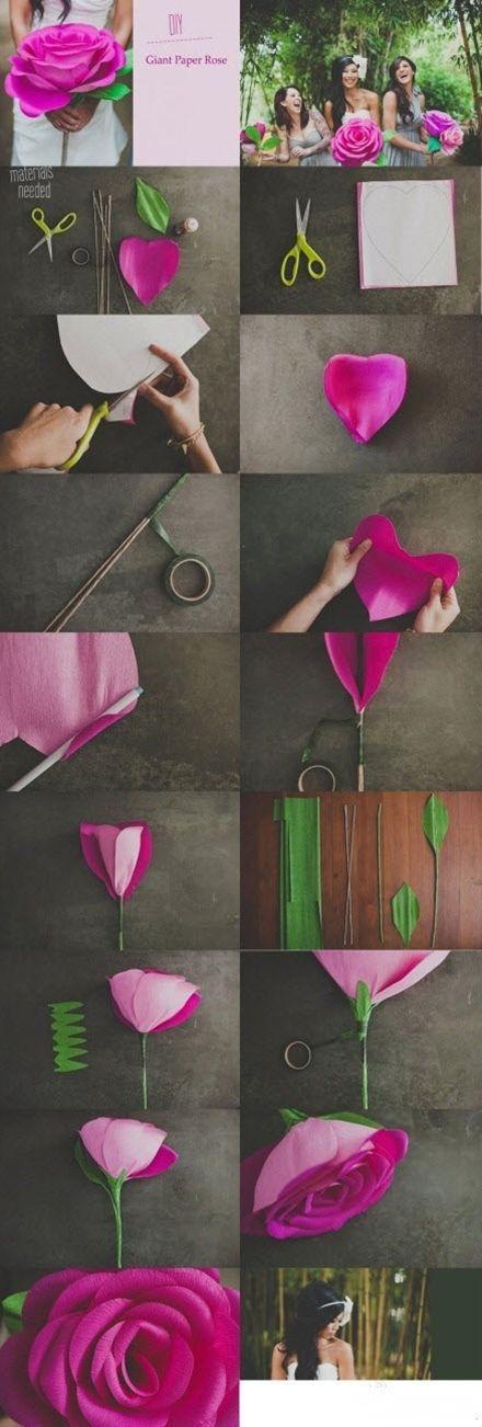 Huge paper wedding flower